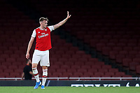 Rob Holding of Arsenal waves to the home fans at the end of the match during Arsenal Under-23 vs Everton Under-23, Premier League 2 Football at the Emirates Stadium on 23rd August 2019