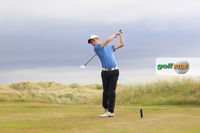 Campbell Rogers (Royal Portrush) on the 18th tee during Round 3 of the Ulster Boys Championship at Castlerock Golf Club on Wednesday 2nd July 2015.<br /> Picture:  Golffile | Thos Caffrey