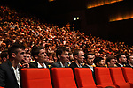 Top riders at Tour de France 2018 route presentation held at Palais de Congress, Paris, France. 17th October 2017.<br /> Picture: ASO/Bruno Bade | Cyclefile<br /> <br /> <br /> All photos usage must carry mandatory copyright credit (&copy; Cyclefile | ASO/Bruno Bade)