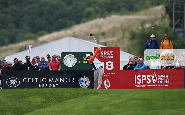 PETER UIHLEIN (USA) during Round Two at the 2013 ISPS Handa Wales Open from the Celtic Manor Resort, Newport, Wales. Picture:  David Lloyd / www.golffile.ie
