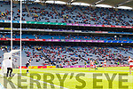 Donal O'Sullivan Kerry in action against Conleth McShane Derry in the All-Ireland Minor Footballl Final in Croke Park on Sunday.