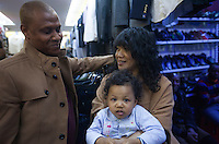 An Afro-Chinese couple and their mixed race baby are seen in an area of Guangzhou known to locals as 'Chocolate City', Guangzhou, Guangdong Province, China, 08 December 2014. The health authorities of Guangzhou are said to be stepping up their monitoring of the African community in light of the ongoing outbreak of the Ebola virus disease in West Africa.