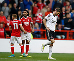 Chris Basham of Sheffield Utd at the final whistle during the Championship match at the City Ground Stadium, Nottingham. Picture date 30th September 2017. Picture credit should read: Simon Bellis/Sportimage