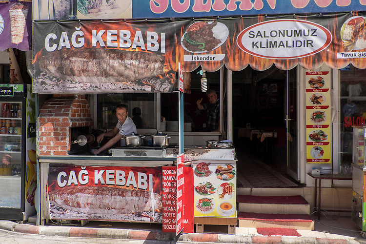 Kebabs are the mainstay in many Turkish eating establishments.