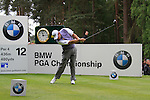 Lee Westwood (ENG) tees off on the 12th tee during Day 3 of the BMW PGA Championship Championship at, Wentworth Club, Surrey, England, 28th May 2011. (Photo Eoin Clarke/Golffile 2011)