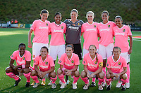 FC Gold Pride Starting Eleven. FC Gold Pride tied the Chicago Red Stars 0-0 in PUMA's Project Pink, Think Pink, Breast Cancer Awareness game at Pioneer Stadium in Hayward, California on August 7th, 2010.