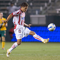 Necaxa Fwd Gerardo Galindo during the Necaxa defeat of the LA Galaxy 1-0 in an International friendly match at The Home Depot Center in Carson, California, Wednesday July 12, 2006.