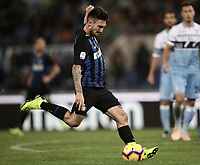 Calcio, Serie A: SS Lazio vs Internazionale Milano, Olympic stadium, Rome, October 29, 2018.<br /> Inter's Matteo Politano in action during the Italian Serie A football match between SS Lazio and Inter Milan at Rome's Olympic stadium, on October 29, 2018.<br /> UPDATE IMAGES PRESS/Isabella Bonotto