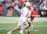 College Park, MD - April 22, 2018: Maryland Terrapins Bubba Fairman (2) in action during game between Ohio St. and Maryland at  Capital One Field at Maryland Stadium in College Park, MD.  (Photo by Elliott Brown/Media Images International)