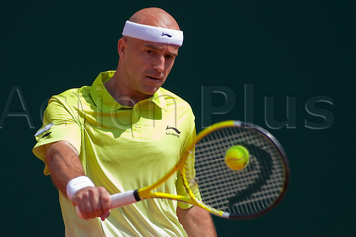 MONTE CARLO, MONACO. 15/04/2010 Ivan Ljubicic (CRO)  in action during the third round of the ATP Monte Carlo Masters tennis tournament held in the Monte Carlo Country Club, Monaco,  from the 12th to the 18th April.