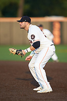 Buies Creek Astros first baseman Jake Adams (30) on defense against the Winston-Salem Dash at Jim Perry Stadium on August 15, 2018 in Buies Creek, North Carolina.  The Astros defeated the Dash 5-0.  (Brian Westerholt/Four Seam Images)