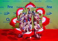 China.Thematic Team event Day02 - Dec. 1st.7th FINA Synchronized Swimming  World Trophy.Mexico City MEX - Nov. 30th, Dec. 2nd, 2012.Photo G.Scala/Deepbluemedia/Inside .Nuoto Sincronizzato
