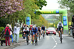 The breakaway pass through the sprint point at Pocklington during Stage 1 of the Tour de Yorkshire 2017 running 174km from Bridlington to Scarborough, England. 28th April 2017. <br /> Picture: ASO/P.Ballet | Cyclefile<br /> <br /> <br /> All photos usage must carry mandatory copyright credit (&copy; Cyclefile | ASO/P.Ballet)