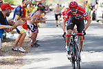Race leader Chris Froome (GBR) Team Sky climbs the 22% Alto Xorret de Cat&iacute; during Stage 8 of the 2017 La Vuelta, running 199.5km from Hell&iacute;n to Xorret de Cat&iacute;. Costa Blanca Interior, Spain. 26th August 2017.<br /> Picture: Unipublic/&copy;photogomezsport | Cyclefile<br /> <br /> <br /> All photos usage must carry mandatory copyright credit (&copy; Cyclefile | Unipublic/&copy;photogomezsport)