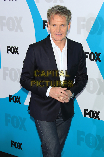 Gordon Ramsay.The 2012 FOX Upfront After-Party at Central Park's Wollman Rink, New York, NY, USA..May 14th, 2012 .half length blue suit jacket shirt jeans denim.CAP/LNC/TOM.©LNC/Capital Pictures.