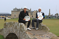 Hoatong Li (CHN) and Allen Zhang (AM) winner of the Team event of the Alfred Dunhill Links Championship at Old Course St. Andrew's, Fife, Scotland. 07/10/2018.<br /> Picture Thos Caffrey / Golffile.ie<br /> <br /> All photo usage must carry mandatory copyright credit (&copy; Golffile | Thos Caffrey)