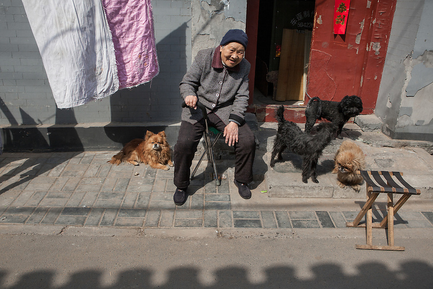 A resident of a Hutong around Qianmen area, Beijing, China.