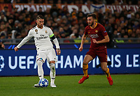 Sergio Ramos of Real Madrid Bryan Cristante of AS Roma  during the Champions League Group  soccer match between AS Roma - Real Madrid  at the Stadio Olimpico in Rome Italy 27 November 2018