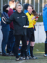 The female influence on the mens game with Stirling manager Shelley Kerr and Assistant Referee Emma Hingant.