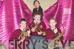 VARIETY SHOW: Enjoying the McCormack & Corvenieo Variety Show at the Holy Family NS, Tralee on Friday front l-r: Shane Dunne, Shane Fitzgerald and Adelina Nikolajeva. Back Kate McCormack.