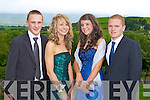 DEBS BALL: Enjoying a great time at the CBS The Green, Tralee Debs at the Ballyroe Heights hotel on Thursday l-r: Daniel Kerins, Claire O'Connell, Alison Jones and Tom Keane.