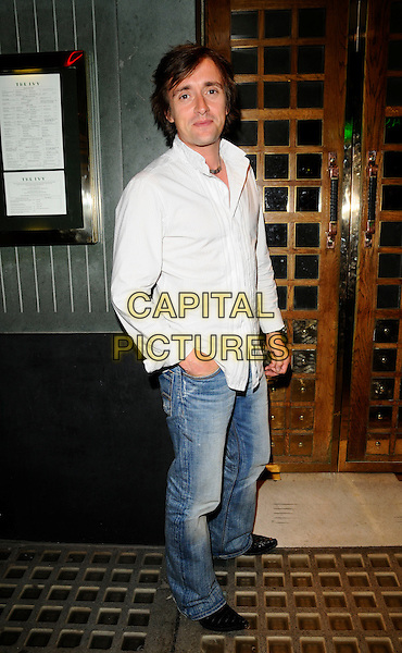 RICHARD HAMMOND .Spotted at The Ivy Restaurant, London, England..June 11th, 2008.full length jeans denim white shirt hand in pocket  .CAP/CAN.©Can Nguyen/Capital Pictures.