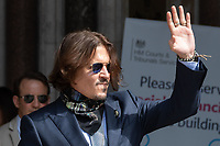 London, UK - 24 July 2020<br /> Johnny Depp attends libel trial against the Sun at The Royal Courts of Justice.<br /> CAP/JOR<br /> ©JOR/Capital Pictures