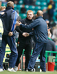 Neil Lennon and Kenny Shiels at full-time
