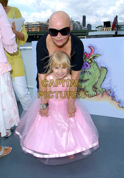 GAIL PORTER & daughter HONEY HIPGRAVE.At the LearnDirect Children's Book Party,.London, England, July 28th 2007..Learn Direct half length  full pink dress mother child kid .CAP/CAN.©Can Nguyen/Capital Pictures