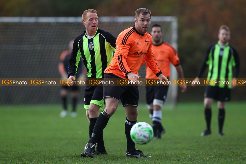 Eagle (green/black) vs Wojak Sunday - Hackney & Leyton Sunday League Jack Walpole Cup Football at Hackney Marshes, Hackney, England on 08/11/2015