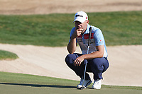 Paul Waring (ENG) on the 8th green during Round 1 of the Abu Dhabi HSBC Championship 2020 at the Abu Dhabi Golf Club, Abu Dhabi, United Arab Emirates. 16/01/2020<br /> Picture: Golffile | Thos Caffrey<br /> <br /> <br /> All photo usage must carry mandatory copyright credit (© Golffile | Thos Caffrey)