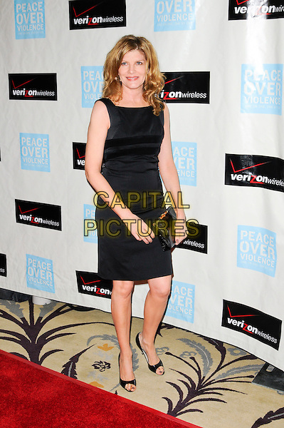 RENE RUSSO .arriving at Peace Over Violence's 38th Annual Humanitarian Awards Dinner and Silent Auction held at the Beverly Hills Hotel in Beverly Hills, California, USA, November 6th 2009..full length sleeveless black dress open toe shoes clutch bag .CAP/ROT.©Lee Roth/Capital Pictures