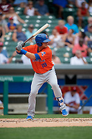 Syracuse Mets Travis Taijeron (19) bats during an International League game against the Indianapolis Indians on July 17, 2019 at Victory Field in Indianapolis, Indiana.  Syracuse defeated Indianapolis 15-5  (Mike Janes/Four Seam Images)