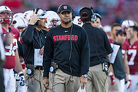 STANFORD, CA - NOVEMBER 23, 2013: David Shaw during Stanford's game against Cal. The Cardinal defeated the Bears 63-13.