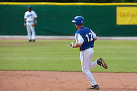 30 july 2010: Robin Allemand of France runs the bases after his solo home run during Italy 9-2 win over France, in day 6 of the 2010 European Championship Seniors, at TV Cannstatt ballpark, in Stuttgart, Germany.