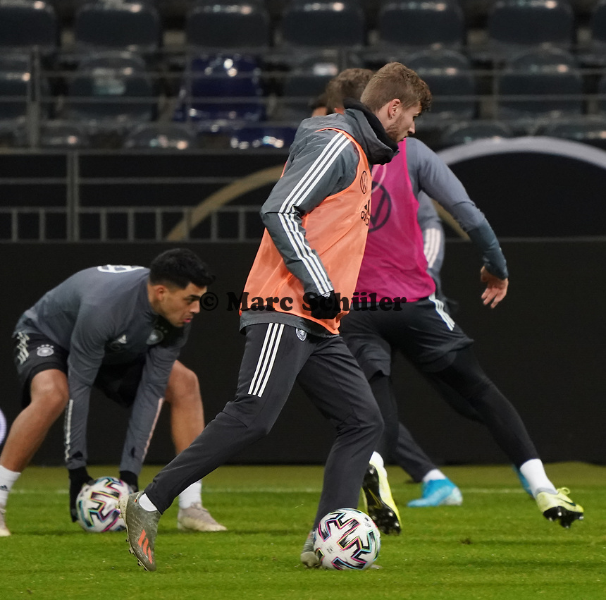 Timo Werner (Deutschland Germany) - 18.11.2019: Deutschland Abschlusstraining, Commerzbank Arena Frankfurt, EM-Qualifikation DISCLAIMER: DFB regulations prohibit any use of photographs as image sequences and/or quasi-video.