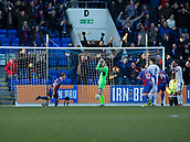 24th March 2018, McDiarmid Park, Perth, Scotland; Scottish Football Challenge Cup Final, Dumbarton versus Inverness Caledonian Thistle; Carl Tremarco of Inverness Caledonian Thistle scores the winning goal for 1-0 in added time at the end of the Irn Bru Cup Final