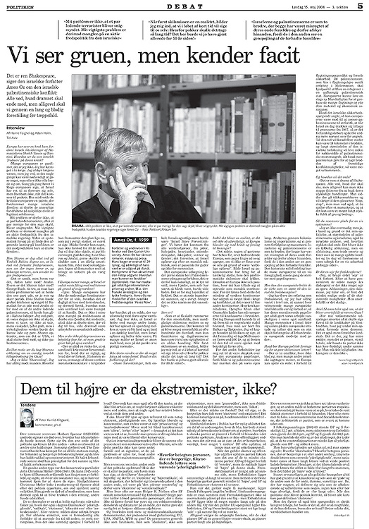 Politiken, Denmark - May 15, 2004