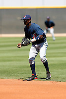Lurvin Basabe -  Cleveland Indians - 2009 spring training.Photo by:  Bill Mitchell/Four Seam Images