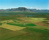 Jörfi séð til norðurs, Borgarbyggð áður Kolbeinsstaðahreppur.Jorfi viewing north, Borgarbyggd former Kolbeinsstadahreppur