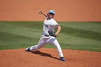 Charlotte Stone Crabs relief pitcher Chandler Raiden (25) during a Florida State League game against the Dunedin Blue Jays on April 17, 2019 at Charlotte Sports Park in Port Charlotte, Florida.  Charlotte defeated Dunedin 4-3.  (Mike Janes/Four Seam Images)