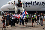 JetBlue's inaugural flight from USA to Cuba