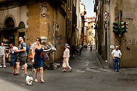 Santo Spirito area of Florence, was a thriving district for artisan's workshops (botteghe) for many centuries, Florence, Italy