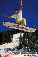 Derric Swinford (MR314) snowboarding, Arapahoe Basin Ski Area, Summit County, CO. Derric Swinford (MR314). Summit County, Colorado.