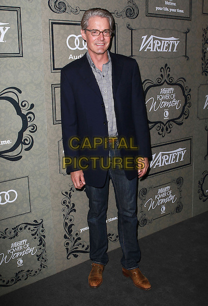 Kyle MacLachlan.2012 Variety Power of Women Luncheon presented by Lifetime Television held at the Beverly Wilshire Four Seasons, Beverly Hills, California USA, 5th October 2012..full length black suit jacket grey gray shirt jeans denim glasses .CAP/ADM/KB.©Kevan Brooks/AdMedia/Capital Pictures.