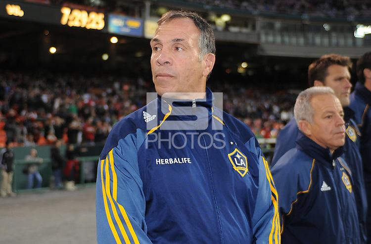 Los Angeles Galaxy Head Coach Bruce Arena.    DC United tied  Los Angeles Galaxy 1-1, at RFK Stadium, Saturday April 9, 2011.