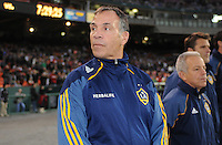 Los Angeles Galaxy Head Coach Bruce Arena.    DC United tied  Los Angeles Galaxy 1-1, at RFK Stadium, Saturday April 9, 2011.