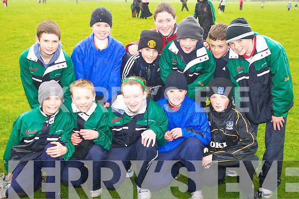 CROSS COUNTRY: Spa Fenit/Barrow team who participated in the Cross Country Community Games in Beaufort on Sunday were front l-r: Jack McCarthy, Raymond Kelly, Claire Brennan, Shane Crowley and Tom Moynihan. Back l-r: Kevin Devane, Aoife Crowley, Ryan Dolan, Mitchell Holland, Cathal Rogers, Fiachra Griffin and Cian Sayers.   Copyright Kerry's Eye 2008