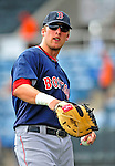 14 March 2009: Boston Red Sox' infielder Lars Anderson prepares to warms up prior to a Spring Training game against the Baltimore Orioles at Fort Lauderdale Stadium in Fort Lauderdale, Florida. The Orioles defeated the Red Sox 9-8 in the Grapefruit League matchup. Mandatory Photo Credit: Ed Wolfstein Photo