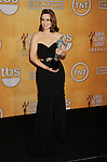 LOS ANGELES, CA - JANUARY 27: Tina Fey poses at the 19th Annual Screen Actors Guild Awards at The Shrine Auditorium on January 27, 2013 in Los Angeles, California.